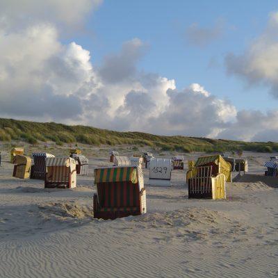 Strandkörbe am Loog-Strand