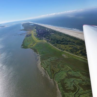 Luftbild - Blick von Osten auf die Insel Juist