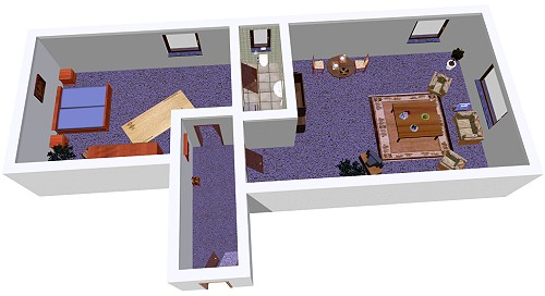 Grundriss Möwensteert (3D schematisiert)