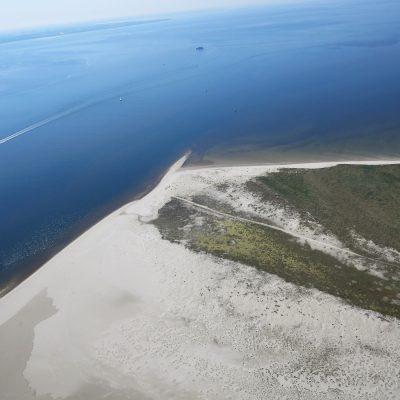Luftbild - Ostspitze der Insel Juist