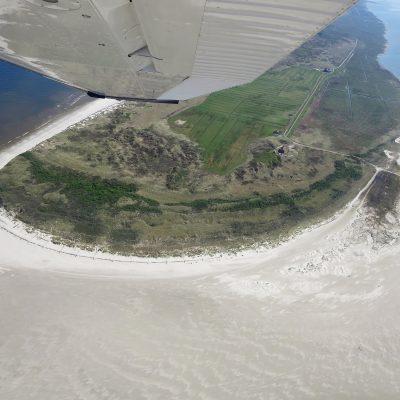 Luftbild - Westspitze der Insel Juist